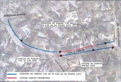 Acacia Ave Parking Map