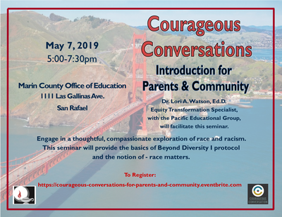 MCOE Parent Ed Event Courageous Conversations