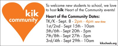 kik Heart of the Community Events 2019