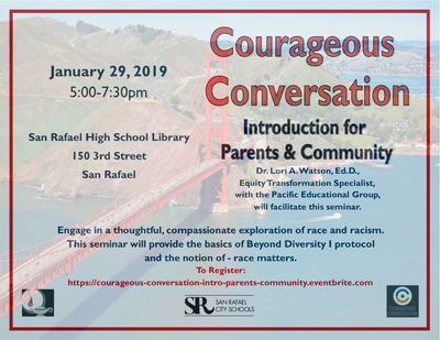 Courageous Conversations Parent Workshop Flyer